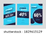 cyber monday sale social media... | Shutterstock .eps vector #1829615129