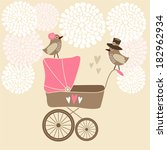 cute baby shower invitation ... | Shutterstock .eps vector #182962934