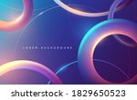 abstract neon color rings... | Shutterstock .eps vector #1829650523