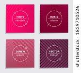 retro plate music album covers... | Shutterstock .eps vector #1829710526