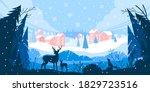 christmas winter vector... | Shutterstock .eps vector #1829723516