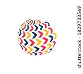 abstract business logo.... | Shutterstock .eps vector #1829733569