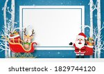 merry christmas and happy new... | Shutterstock .eps vector #1829744120