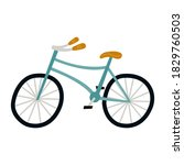 Illustration Of Cute Blue Bike...