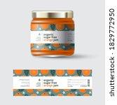 orange jam label and packaging. ... | Shutterstock .eps vector #1829772950