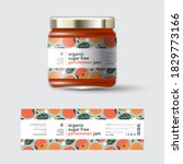 persimmon jam label and... | Shutterstock .eps vector #1829773166
