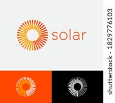 solar logo. sunrays with vortex ...