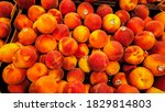 a group of ripe peaches | Shutterstock . vector #1829814803