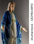 holy mary statue with open arm | Shutterstock . vector #1829814893