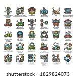 set of self driving car  ... | Shutterstock .eps vector #1829824073