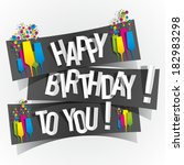 Happy Birthday To You Greeting...