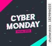 cyber monday sale vector...   Shutterstock .eps vector #1829846033