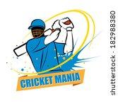cricket mania | Shutterstock .eps vector #182988380
