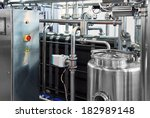 dairy factory with milk... | Shutterstock . vector #182989148