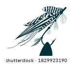 fly fishing flies made from... | Shutterstock .eps vector #1829923190