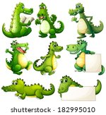 illustration of the eight scary ... | Shutterstock .eps vector #182995010