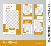 fashion sale social media story ...   Shutterstock .eps vector #1829966366