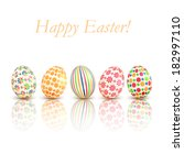 easter eggs colorful patterns... | Shutterstock .eps vector #182997110