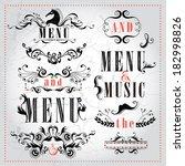 vector set calligraphic design...   Shutterstock .eps vector #182998826