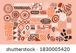 abstract african art shapes... | Shutterstock .eps vector #1830005420