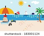 seaside | Shutterstock . vector #183001124