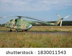 Old East German Helicopter In...
