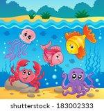 underwater ocean fauna theme 5  ...   Shutterstock .eps vector #183002333