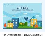 green modern house with solar...   Shutterstock .eps vector #1830036860
