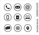 contact us icons with white... | Shutterstock .eps vector #1830041033