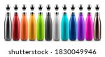 Set Of Colorful Reusable Steel...