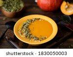 Pumpkin Cream Soup With Seeds...