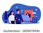 happy couple watching their son ... | Shutterstock .eps vector #1830070430