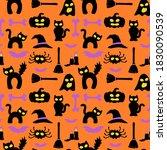 halloween hollow eye wrapping... | Shutterstock .eps vector #1830090539