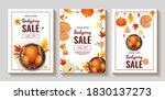 set of thanksgiving day promo...   Shutterstock .eps vector #1830137273