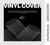 vinyl cover design poster music ... | Shutterstock .eps vector #1830142040