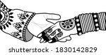wedding indian invitation card... | Shutterstock .eps vector #1830142829