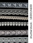 six different white lace... | Shutterstock . vector #183014600