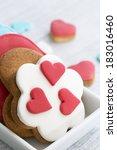 shortbread cookies in the shape ...   Shutterstock . vector #183016460