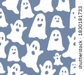 simple ghosts pattern. cute... | Shutterstock .eps vector #1830181733