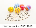 Colourful Easter Egg With...