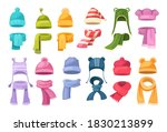 cute knitted warm autumn and... | Shutterstock .eps vector #1830213899