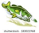 largemouth bass | Shutterstock .eps vector #183021968