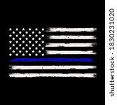 thin blue line american flag... | Shutterstock .eps vector #1830231020