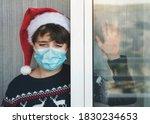 Sad Kid With Medical Mask...