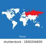 vector map of the russia | Shutterstock .eps vector #1830246830
