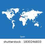 vector map of the spain | Shutterstock .eps vector #1830246833
