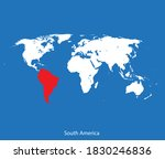 vector map of the south america | Shutterstock .eps vector #1830246836