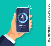 fitness steps tracker app on...