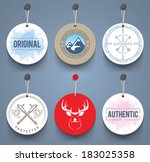 badges with cords. eps10. | Shutterstock .eps vector #183025358