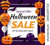 sale banner for happy halloween ... | Shutterstock .eps vector #1830269723